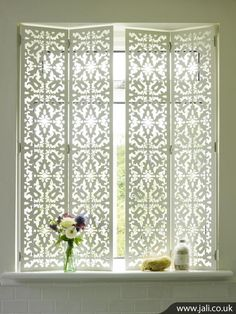 Picture 412 These stylish, concertina window shutters are not only perfect for privacy but add decoration to your room.
