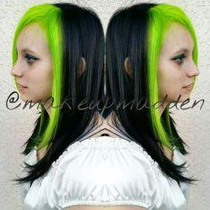 Pravana neon green, and black!
