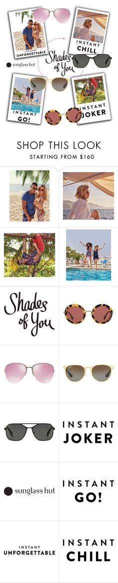 """Shades of You: Sunglass Hut Contest Entry"" by streetglamour on Polyvore featuring Miu Miu, Ray-Ban, Prada and shadesofyou"