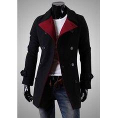 Clássico casaco comprido de botões duplos para Homem €26.99