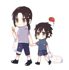Itachi and Sasuke Sasuke Sakura Sarada, Sasuke X Naruto, Naruto Cute, Naruto Funny, Gaara, Hinata, Baby Sasuke, Naruto Shippuden Characters, Naruto Shippuden Anime