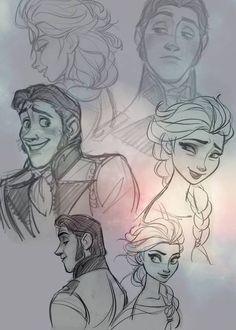 Hans x Elsa | Helsa / Hansla / iceburns Fire & Ice | Disney's Frozen | animated movie | OTP