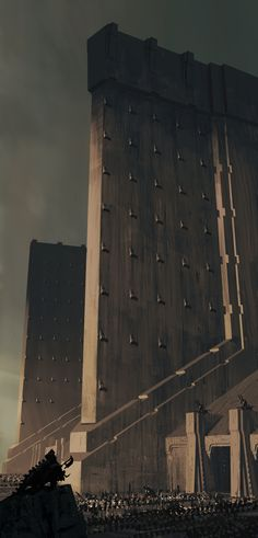 I would love to write a story/game set in a Deco-Brutalist world, where all the architecture ascribes to similar geometric ideals, but has slowly either developed or decayed from a gleaming, ornate cityscape of polished metal and glass to a worn and oppressive citadel of concrete.