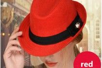 Fashion bow fedora hat for winter womens jazz hats