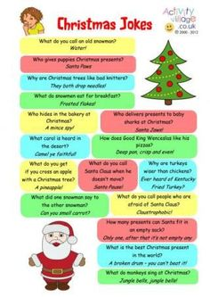 Christmas Jokes Printable