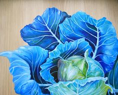 A beautiful Blue Cabbage by Kristina Closs!