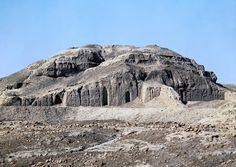 White Temple atop the Ziggurat of Uruk   White Temple and its ziggurat, c. 3500–3000 B.C.E., Sumerian, mud brick, Uruk (modern Warka, Iraq)  Picture credit to unknown photographer.