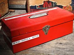 Man Cave, Dude Find, Toolbox, Red Tool Box, Photo Prop, Industrial Storage, Organizer, Red Metal Box, Tool Storage, Hobby Storage, MaxsUniqu by MaxsUniquities on Etsy