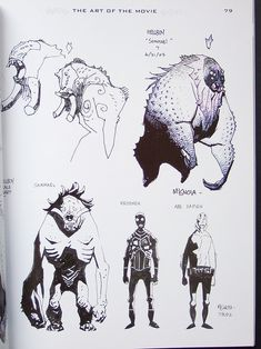 Concept art from Mike Mignola for the Hellboy movie. Comic Book Artists, Comic Artist, Comic Books Art, Character Concept, Character Art, Mike Mignola Art, Les Aliens, Monster Design, Comic Panels