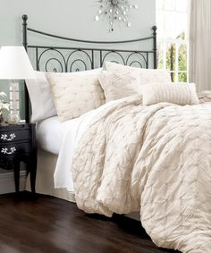 Take a look at this Ivory Lake Como Comforter Set by Lush Décor on #zulily today!