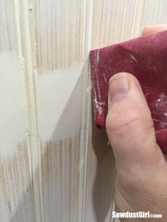 In case you need to know, I'm going to show you how to hide seams in beadboard. Preferably you won't have seems but if you do, I got ya covered. How to hide seams in Beadboard First, l… Home Renovation, Home Remodeling, Basement Renovations, Bathroom Remodeling, Layout Design, Design Ideas, Bead Board Walls, Bead Board Ceiling, Bead Board Bathroom