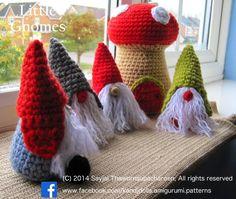 MODELES GRATUITS-Petits gnomes avec champignons Maisons: Nouveau modèle de crochet Amigurumi