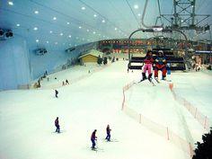 Ski at Ski Dubai! At 3000 square meters, Ski Dubai is the largest indoor snow park in the world.