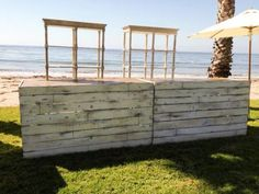 Vineyard White Wash Bar Front - (Potting Bench Bar) | Town & Country Event Rentals