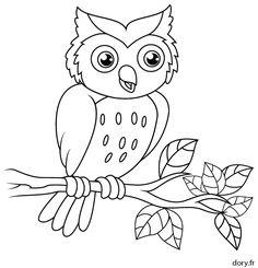 Photos dessin a colorier facile page 3 animaux - Hibou dessin facile ...