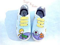 Zapatillas pintadas a mano de El Principito #ElPrincipito
