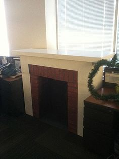 Cardboard fireplace. I have a ton of cardboard boxes. I need to make one for Christmas!