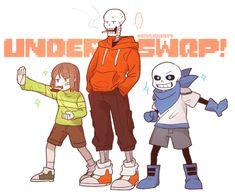 UnderSwap! Chara, UnderSwap! Papyrus and UnderSwap! Sans | Artist RyuO