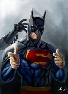 Super Hero Mashup   Superman & Batman all rolled into one picture! From Funny Technology - Google+