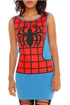 Marvel Comics Spider-Man Costume Tank (Hot Topic)