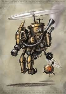 Steampunk Robot Drawing - Bing Images