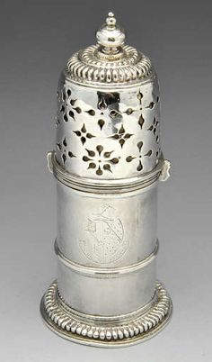 LOT:14 | A William & Mary silver lighthouse caster.