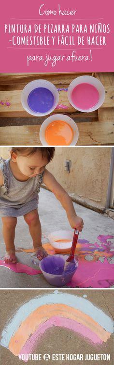 Pintura de Pizarra Comestible para Niños Fácil de Hacer en Casa!