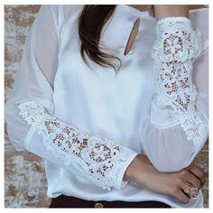 140 Likes 9 Comments Urban Fashion, Daily Fashion, Womens Fashion, Kurti Embroidery Design, Kurti Neck Designs, Satin Blouses, Feminine Dress, Blouse Styles, Lace Tops