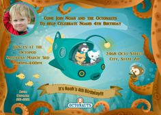 Octonauts Birthday Invitation Printable by stephaniescollection, $9.99
