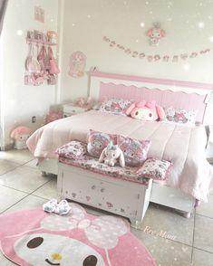 Cute Room Ideas, Cute Room Decor, Teen Room Decor, Bedroom Decor, Pastel Room, Pink Room, Ideas Decorar Habitacion, Kawaii Bedroom, Otaku Room