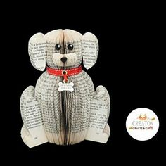 "59 Likes, 5 Comments - Creaton Crafts & Gifts (@creatoncrafts) on Instagram: ""Newly created our book dog. https://www.etsy.com/uk/listing/475771596/personalised-dog-gift-…"""