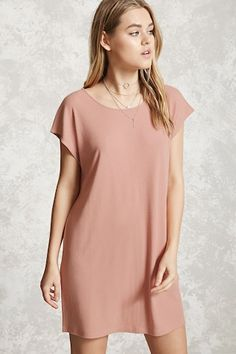 Style Deals - A ribbed knit mini dress featuring short dolman sleeves, a round neckline, and a flared silhouette.