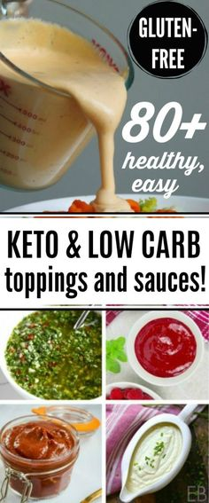 80 Keto & Low Carb Condiments Toppings Dressings & Sauces is a great resource for all your recipes! Pin this post and come back to it every time you need a sauce topping condiment or dressing to make your Keto cooking awesome and special! Keto Sauces, Low Carb Sauces, Cinnamon Health Benefits, Homemade Tahini, Fat Burning Foods, Calories, Dressings, Best Diets, Low Carb Keto