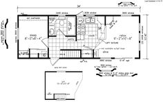 single wide mobile home floor plan - Google Search