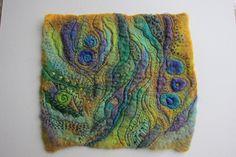 Topaz and amethyst felt with embroidery.   Jackie Cardy (dogdaisy92)   Flickr