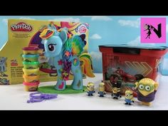Play Doh My Little Pony Rainbow Dash Style Salon Surprise Minions Blind Bags - YouTube