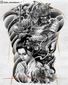 World clock tattoo design Geisha Tattoo Design, Clock Tattoo Design, Tattoo Design Drawings, Tattoo Sleeve Designs, Sleeve Tattoos, Samurai Warrior Tattoo, Warrior Tattoos, Samurai Tattoo Sleeve, Tatuajes Irezumi