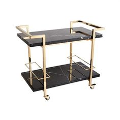 Franklin Marble and Stainless Steel Drinks Trolley