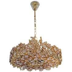 20th Century, Gilded and Crystal Encrusted Lobmeyr Chandelier at 1stdibs Vienna c. 1950