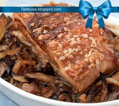pork belly with onions and potatoes