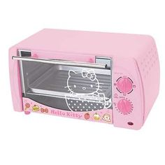Hello kitty toaster oven!? Toaster oven is something I need too, so a great excuse to get HK stuff! :D