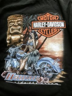 Harley Davidson Large T-Shirt Hawaii
