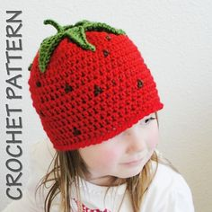 Items similar to Crochet pattern - 4 baby girl hat patterns! Permission to sell finished items. on Etsy Crochet Baby Hat Patterns, Crochet Kids Hats, Crochet Yarn, Crochet Hooks, Knitted Hats, Baby Girl Hats, Girl With Hat, Crochet Strawberry, Strawberry Crafts