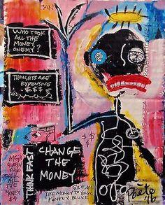 Basquiat, Aliens, Art Brut, Typographic Poster, Funky Art, Robot Art, Naive Art, Outsider Art, Art Challenge