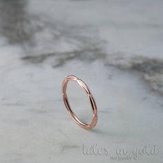 Band Ring Gold Ring 14 karat gold Ring Minimal by TalesInGold