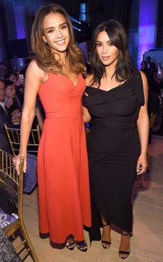 Jessica Alba and Kim Kardashian West