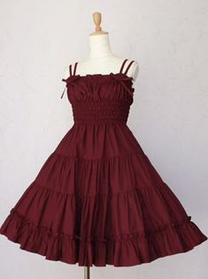 Victorian Maiden - Lace Ribbon Under Dress. Classic Country Lolita Gothic.