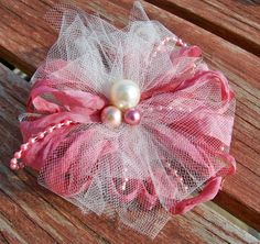 Handmade Vintage looking tulle and ribbon by JsCraftyStudio, $4.75