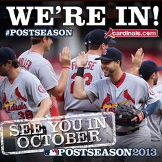 WooHoo! Love me some Cardinals Baseball in October!