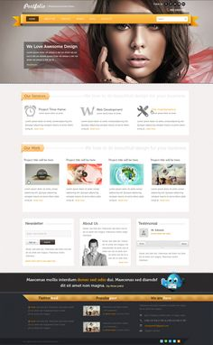 Portfolio | Responsive Business Theme by NiravJoshi.deviantart.com on @deviantART